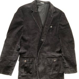 Men's black corduroy blazer with from pocket